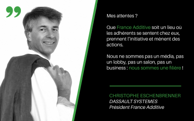 Portrait de Christophe Eschenbrenner, Président de France Additive
